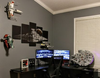 Lego mount display wall